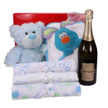 Gift Wrapped Up Baby Boy Hamper Sparkling