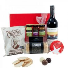 Gift Wrapped Up Christmas Hamper Red Wine Treats