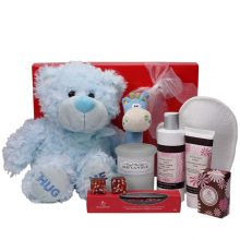 Gift Wrapped Up Deluxe Pamper Hamper Mother & Baby Boy