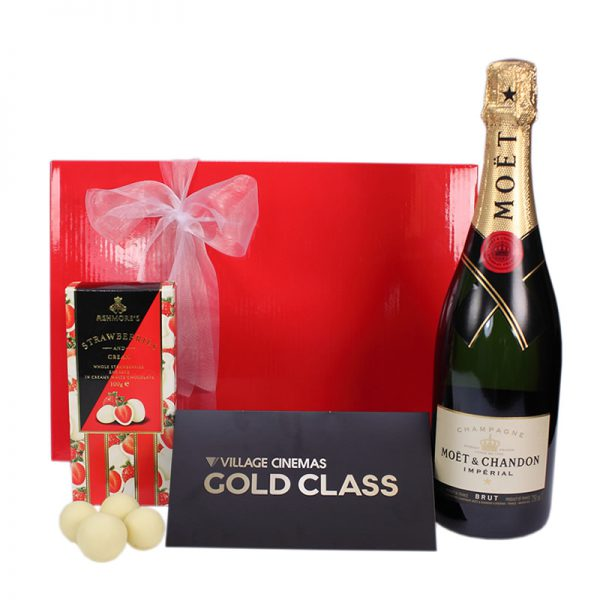 Gift Wrapped Up Gift Hamper Gold Class & Moet Sparkling