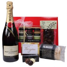 Gift Wrapped Up Gift Hamper Myer Gift Card & Moet Sparkling