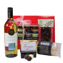 Gift Wrapped Up Gift Hamper Myer Gift Card & White Wine