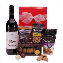 Gift Wrapped Up Gourmet Hamper Red Wine Yummy Treats