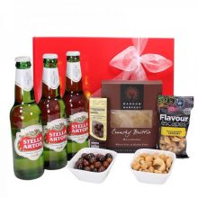 Gift Wrapped Up Mens Hamper Stella Beer & Nut