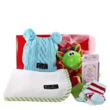 Gift Wrapped Up Newborn Baby Boy Hamper Wrapped Up
