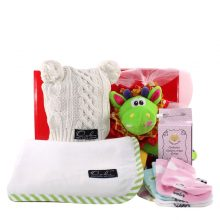 Gift Wrapped Up Newborn Baby Girl Hamper Wrapped Up