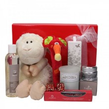 Hamper including baby products