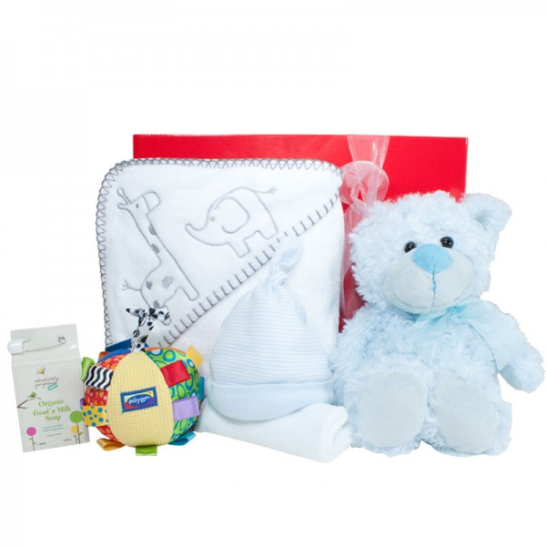 Baby Gifts Australia Melbourne : New baby boy snuggle box gift wrapped up