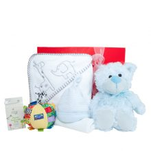 Gift Wrapped Up Newborn Baby Boy Hamper Snuggle Box