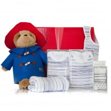 GIFT WRAPPED UP BABY BOY GIFT HAMPER BLUE PADDINGTON