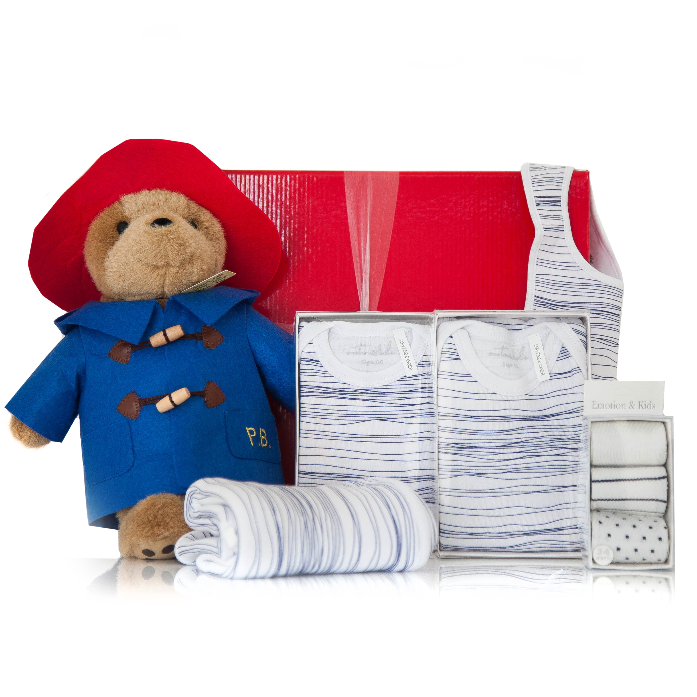 Baby Boy Gifts Melbourne : Gift wrapped up baby boy hamper blue paddington