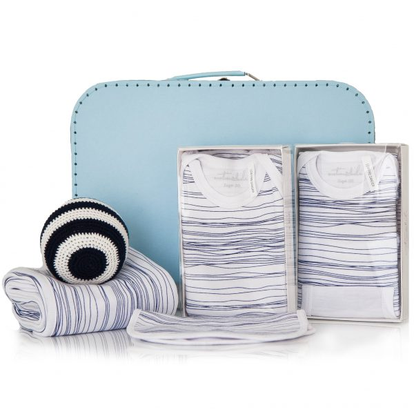 GIFT WRAPPED UP BABY BOY GIFT HAMPER SCRIBBLE