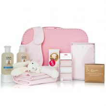 GIFT WRAPPED UP BABY GIRL GIFT HAMPER PRETTY IN PINK