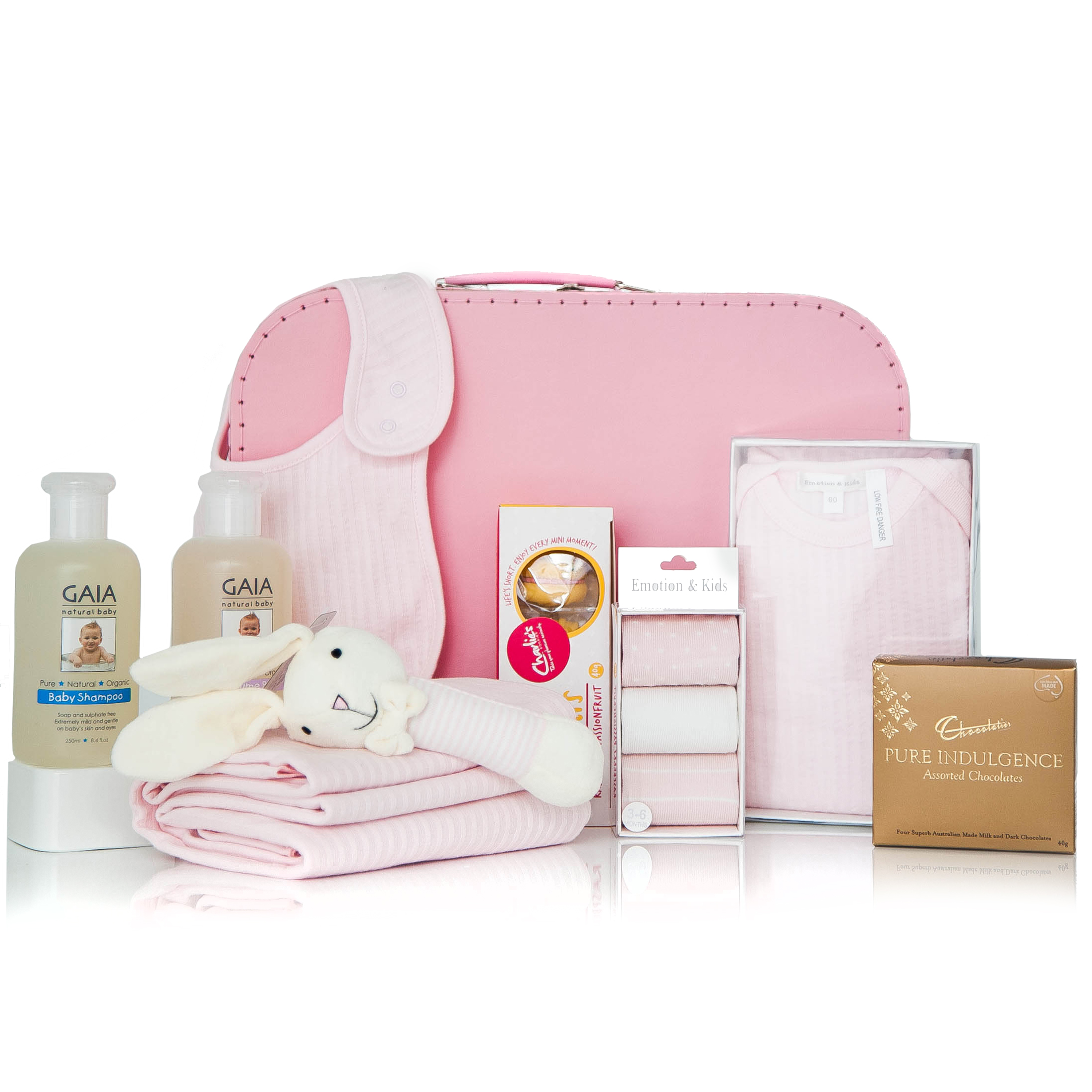 Baby Gift Ideas Melbourne : Gift wrapped up baby girl hamper pretty in pink