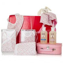 GIFT WRAPPED UP NEWBORN BABY GIRL GIFT HAMPER SPRINGTIME