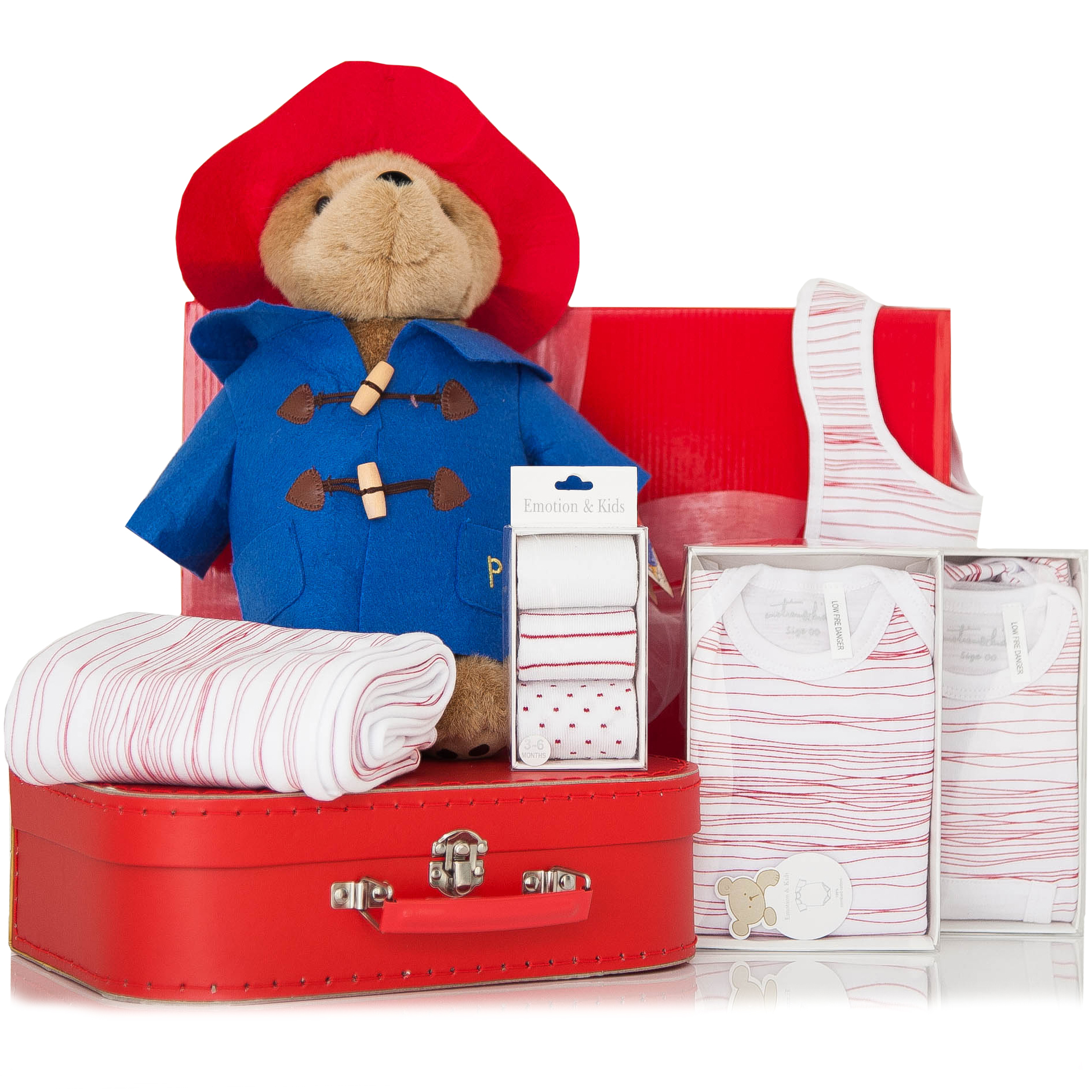 Baby Boy Gifts Melbourne : Gift wrapped up baby hamper paddington bear