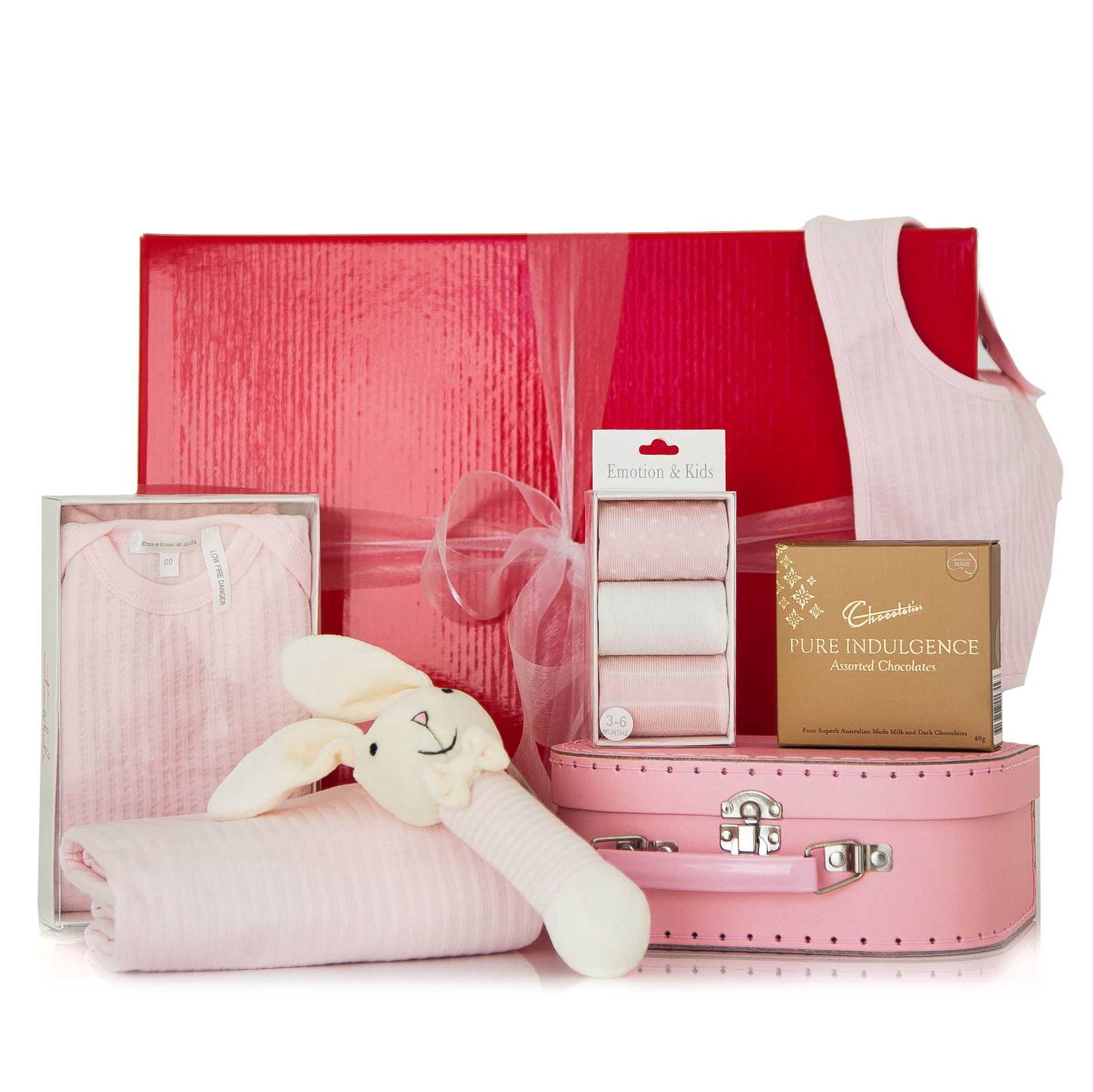 Baby Gift Hamper Melbourne : Gift wrapped up newborn hamper pretty in pink