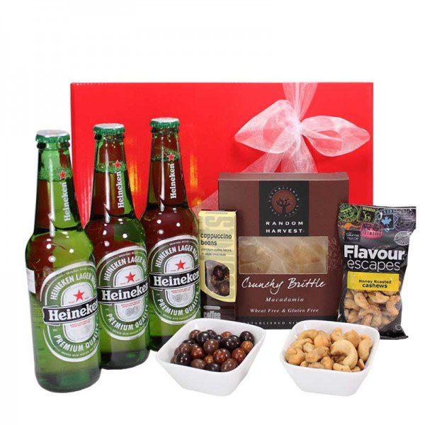 Gift Wrapped Up | Heineken Beer & Nut Hamper
