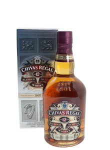Bottle of Chivas Regal 12 Year Old Scotch Whisky