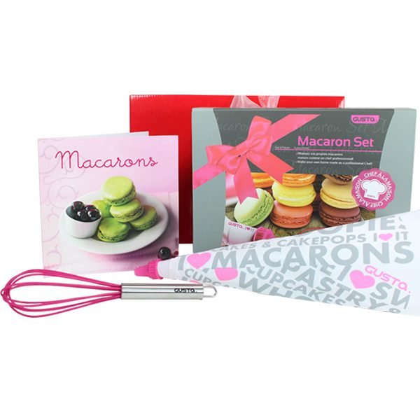 Cooking Gift Hamper Gusta Macaron Set Gift Wrapped Up